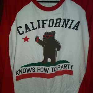 CALIFORNIA PARTY TEE - Long Sleeve Shirt Bear Flag